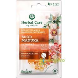 Herbal Care Masca Iluminatoare cu Miere de Manuka si Vitamina C 2x5ml