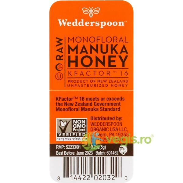 Miere De Manuka KFactor 16 RAW 100% Naturala Plic 5g