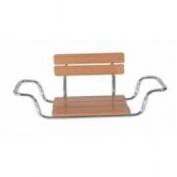 Scaun din lemn pentru vana cu spatar -MRS 922