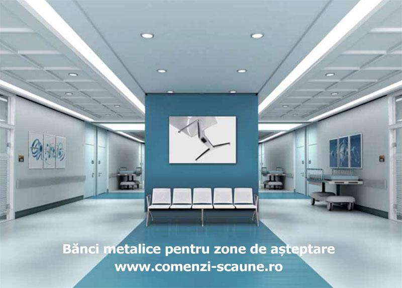 Bănci metalice Nexus pentru vizitatori și zone de așteptare